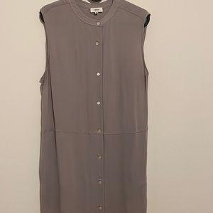 Aritzia wilfred grey silk dress medium preloved